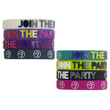 Joy Rubber Bracelets (8pk)